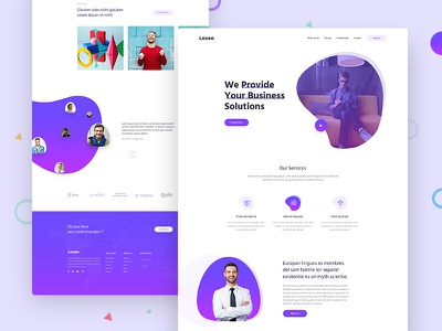 Loxeo Agency Landing Page studio landing slider header digital landing page clean services moder agancy landing agency landing page landing