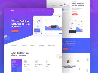 Brox-Saas Landing Page Concept