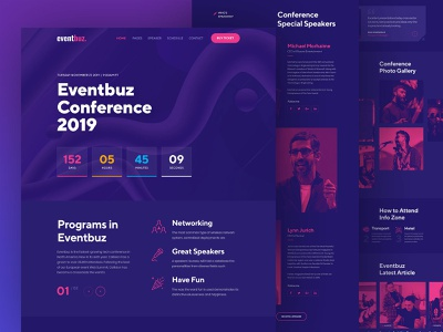 Event & Conference Full Home Page typography website web ux ui clean webflow design forum events digital business conference business event ticket event  conference conference event