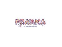 Floral and femine lettermark logo of 'Praana'