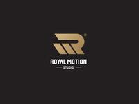 Letter mark logo of 'Royal Motion Studio'