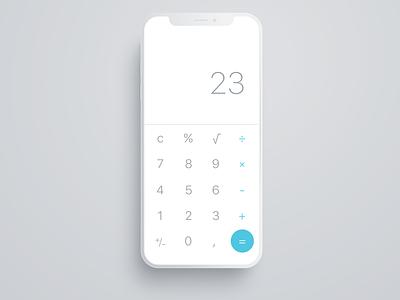 Daily UI #004 - Calculator calculator app ui design uidesign design ui daily ui dailyui