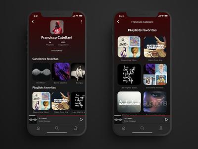 Daily UI #006 - User profile music app music player music ux uidesign app ui design ui daily ui design dailyui