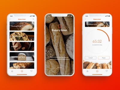 Daily UI #014 - Countdown Timer uidesign ux art direction bread countdown timer bakery app ui ui design design daily ui dailyui