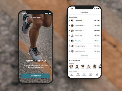 Daily UI #019 -  Leaderboard runners uidesign app ui design design daily ui dailyui leaderboard running running app