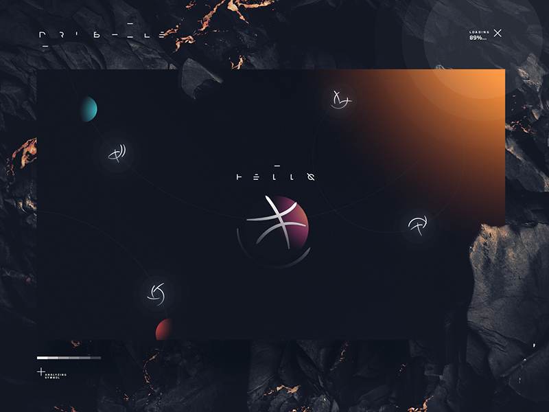 Hello Dribbble! bold planets space web graphic design photoshop
