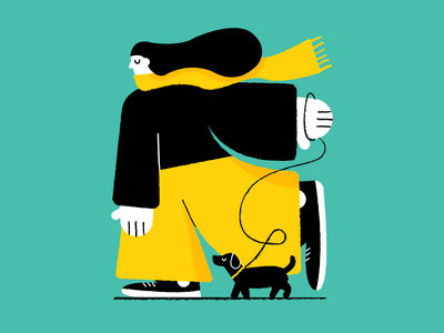 🐕 🐕 🐕 goodboy scarf windy character design dogwalker vector dog character