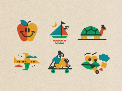 6-pack 🍎 icon character drawing fun doodle texture vector art illustration