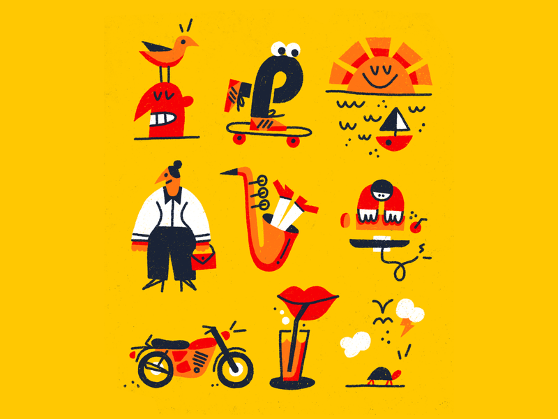 ☀️☀️☀️ spotillustration loose procreate fun drawing doodle art illustration