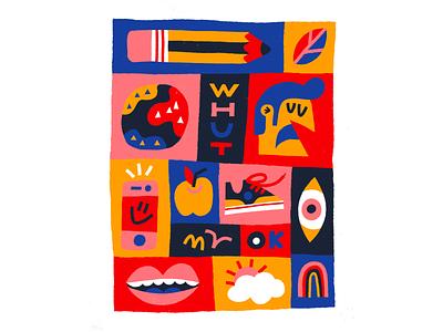 Whut ok procreate drawing doodle character fun texture art illustration