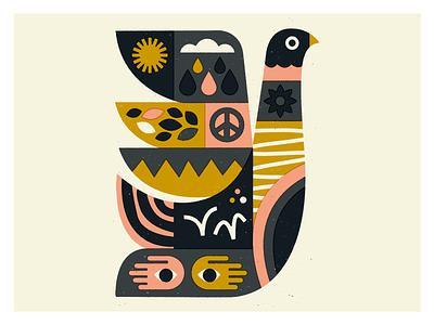🏸🏸🏸 fucktrump man peace texture shapes bart art bird illustration