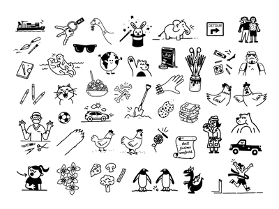 Highlights ✍️ sketch magazine spot illustration drawing character doodle art illustration