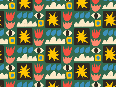 👁️👁️👁️ repeating flower eye vector surfacepattern texture pattern art illustration