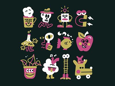 👋👋👋 fun doodle character vector art illustration