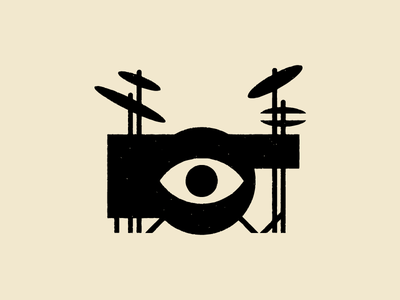 How do you get a drummer off of your porch?  cymbal black music illustration texture eyeball drums drum drummer pizza