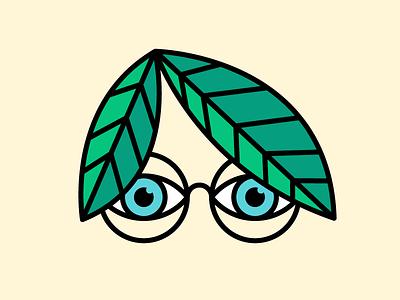 🍃 spy bigbrother creeper stroke eyeballs peeper thicklines illustration leaves leaf glasses eyes