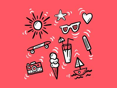 Wingin' it icecream loose sun hot summer whatever doodle fun drawing illustration art