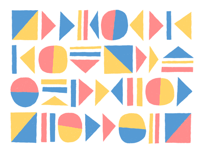 📕 📙 📘 go stop pause play texture repeat pattern art fun shape geometric