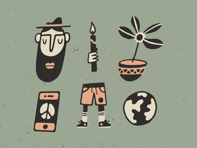 Doodles texture vector procreate illustration phone shorts plant world loose art doodle drawing
