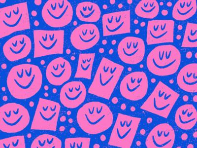 🙂🤝🙂 sundayfunday procreate circles wallpaper happy drawing doodle pattern illustration art smiley