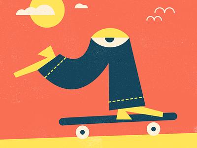 Go Skateboarding Day! art sunny push texture illustration eyeball skateboarding skate
