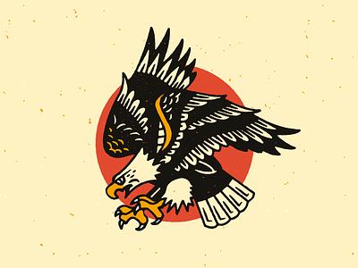 Sailor Jerry vector texture grit illustration sailorjerry tatttoo eagle