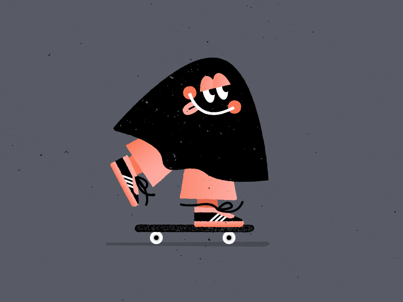 Pushing into the weekend like... 💤 pushing texture skateboarding character doodle vector art illustration