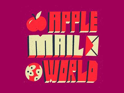 🍎 ✉️ 🌎 doodle type forfun world mail apple procreate lettering illustration