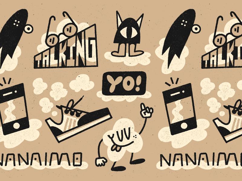 Talking Nanaimo Yo! nanaimo procreate fun character doodle texture art illustration