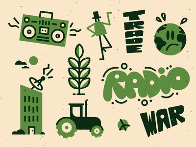 📻🌎📻 lettering drawing fun character doodle vector texture art illustration