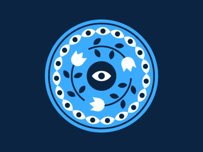 👁 🌹 👁 illustration eyeball eye rose vector round circle design circle logo