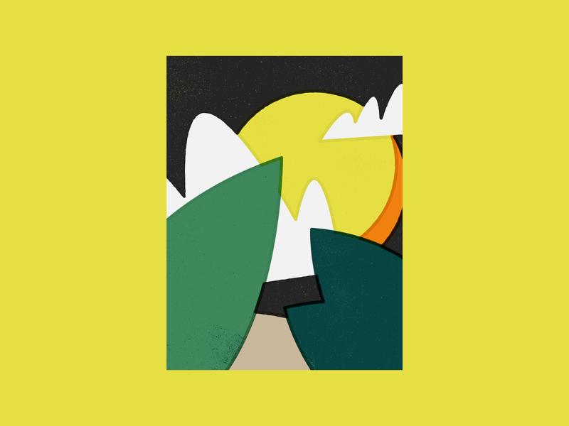 Slowdown 1/3 design textiledesign textile abstract art throw blanket texture landscape illustration