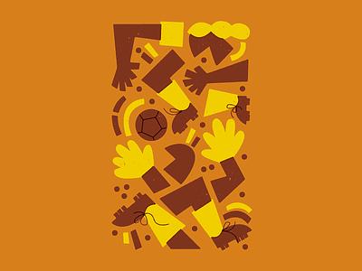 ⚽️ ⚽️ ⚽️ football soccer character vector texture art illustration