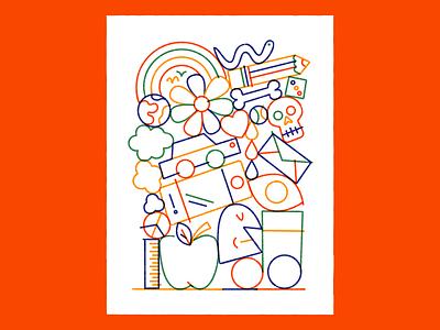 📚📚📚 stroke drawing fun doodle vector art illustration