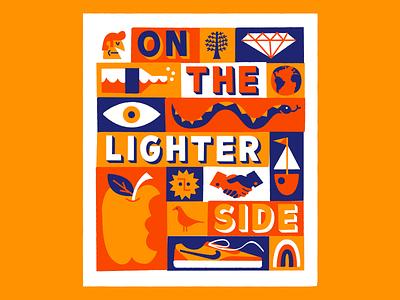On the lighter side 🕴️ mondays fun logotype lettering vector poster print art illustration