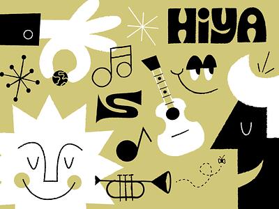 HIYA 👋 illustrator retrosupply drawing fun doodle vector art illustration