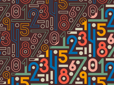 Pattern Play geometric numerals surfacepattern graphicdesign numbers pattern design illustration