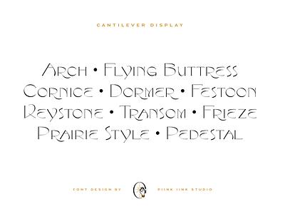 Cantilever Font Design font design font lettering type typography