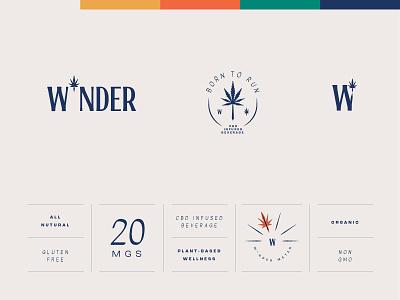 W*nder Identity design branding design hemp cbd logo branding