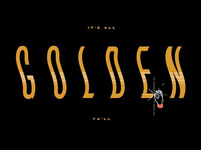 Font Design golden font lettering typography type