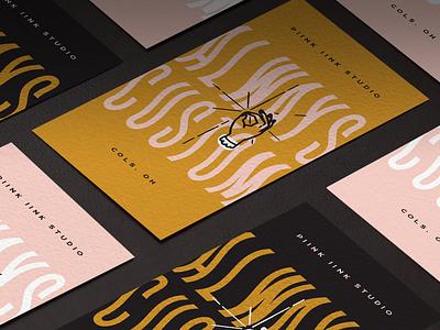 Business Card Design for Myself :) gold pink type font businesscard design
