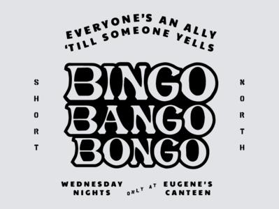 Eugenes Canteen Bingo Shirt Graphic typography type bingo