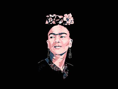 Frida Kahlo Illustrated Portrait procreate artists digital woman illustration fridakahlo frida woman women artist