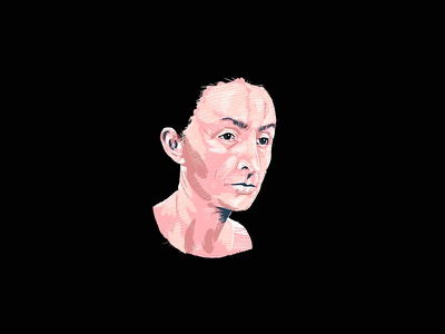 Georgia Okeeffe Illustrated Portrait digital illustration procreate pink illustration