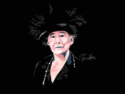 Marie Cassatt Illustration Portrait artist profile digital illustration procreate pink illustration