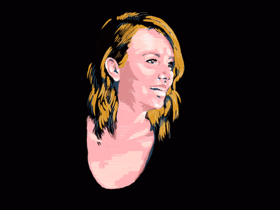 Self portrait procreate profile portrait digital art illustration