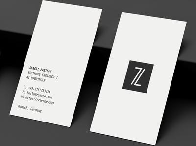 Very minimal business card idea