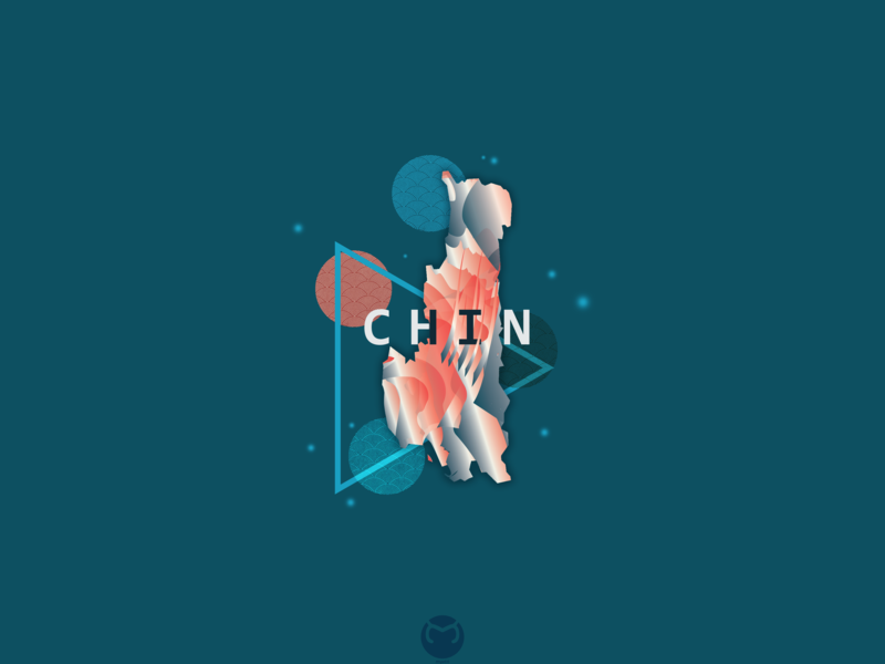 Chin Abstract lonelyplanet chin map illustration flat abstract awesome design myanmar illustrator