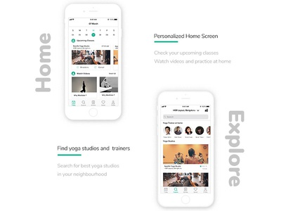 wellmonk app home and explore screens