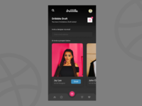 Dribbble app redesign concept - 2x invite screen